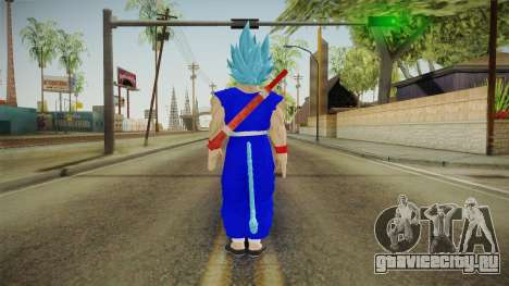 Goku Original DB Gi Blue v6 для GTA San Andreas третий скриншот