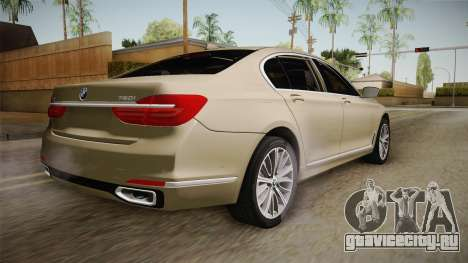 BMW 7-series G12 Long 2016 для GTA San Andreas вид слева