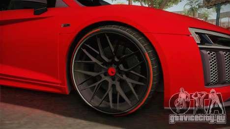 Audi R8 Vorsteiner для GTA San Andreas вид сзади
