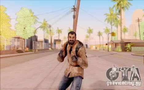 Вано из S.T.A.L.K.E.R. в кожаной куртке для GTA San Andreas