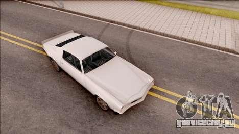 Chevrolet Camaro Z28 1970 SA Style Low Poly для GTA San Andreas вид справа