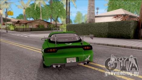 Mazda RX-7 NFS Undercover v2 для GTA San Andreas вид сзади слева