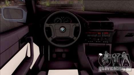 BMW M5 E34 Touring Slammed 1995 для GTA San Andreas вид изнутри