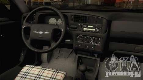 Volkswagen Jetta 1995 для GTA San Andreas вид изнутри