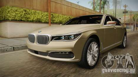 BMW 7-series G12 Long 2016 для GTA San Andreas вид сзади слева