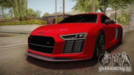 Audi R8 Vorsteiner для GTA San Andreas вид сзади слева