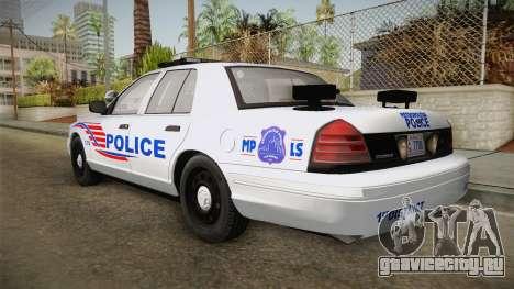 Ford Crown Victoria Police v1 для GTA San Andreas вид справа
