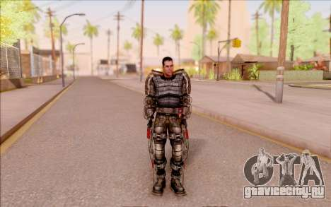 Дегтярёв в экзоскелете из S.T.A.L.K.E.R. для GTA San Andreas третий скриншот