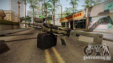 GTA 5 Camo Light Machine Gun для GTA San Andreas третий скриншот