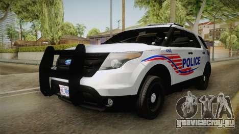 Ford Explorer 2013 Police для GTA San Andreas вид справа
