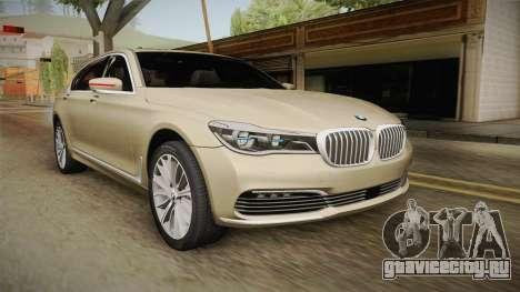 BMW 7-series G12 Long 2016 для GTA San Andreas