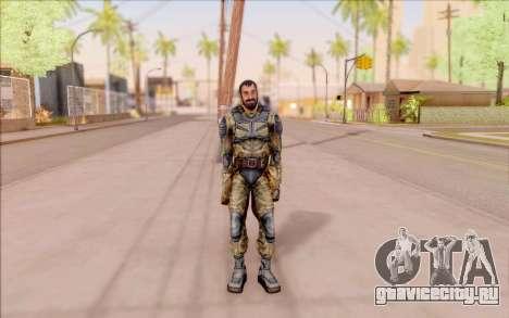 Вано из S.T.A.L.K.E.R. в комбинезоне Свободы для GTA San Andreas третий скриншот