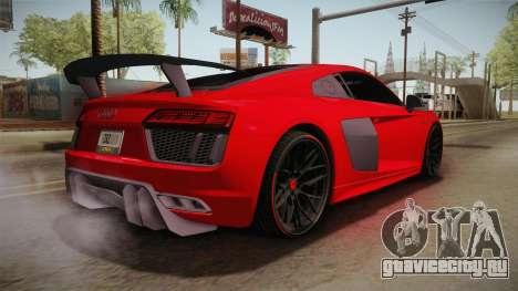 Audi R8 Vorsteiner для GTA San Andreas вид слева