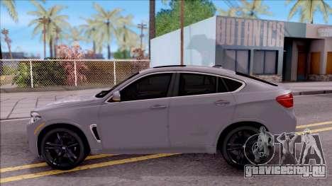 BMW X6M F86 2016 для GTA San Andreas вид слева