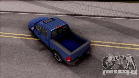 Dodge Ram Rebel 2017 для GTA San Andreas вид сзади
