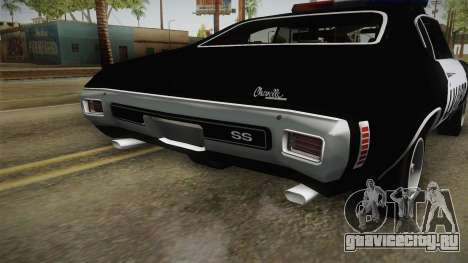 Chevrolet Chevelle SS Police LVPD 1970 v2 для GTA San Andreas вид снизу