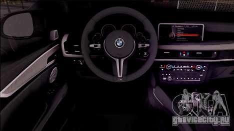 BMW X6M F86 2016 для GTA San Andreas вид изнутри