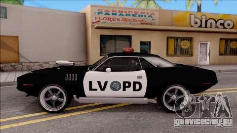 Plymouth Hemi Cuda 426 Police LVPD 1971 v2 для GTA San Andreas вид слева