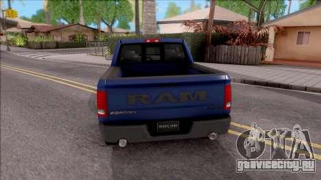 Dodge Ram Rebel 2017 для GTA San Andreas вид сзади слева