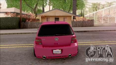 Volkswagen Golf R32 для GTA San Andreas вид сзади слева