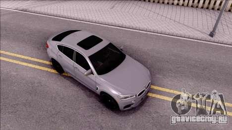 BMW X6M F86 2016 для GTA San Andreas вид справа