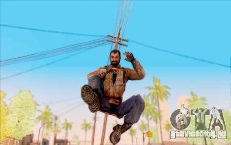 Вано из S.T.A.L.K.E.R. в кожаной куртке для GTA San Andreas шестой скриншот