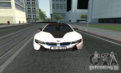 BMW i8 Armenian для GTA San Andreas вид сзади слева