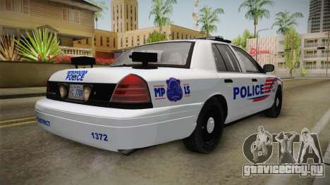 Ford Crown Victoria Police v1 для GTA San Andreas вид слева