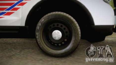 Ford Explorer 2013 Police для GTA San Andreas вид сзади