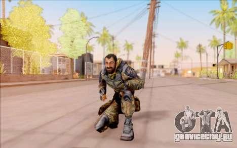 Вано из S.T.A.L.K.E.R. в комбинезоне Свободы для GTA San Andreas шестой скриншот