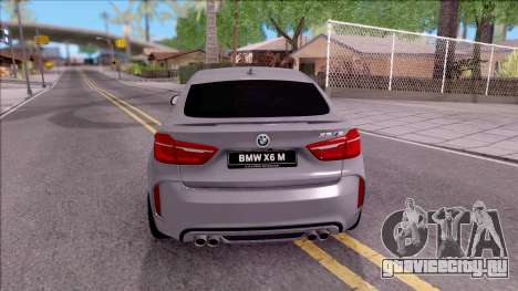 BMW X6M F86 2016 для GTA San Andreas вид сзади слева