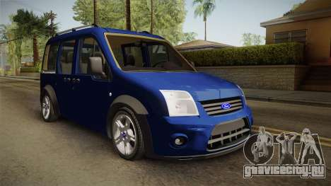 Ford Tourneo Connect 2012 для GTA San Andreas вид сзади слева