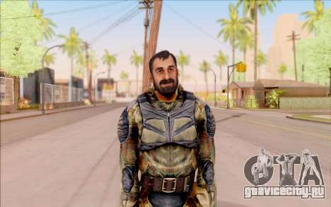 Вано из S.T.A.L.K.E.R. в комбинезоне Свободы для GTA San Andreas второй скриншот