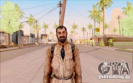 Вано из S.T.A.L.K.E.R. в кожаной куртке для GTA San Andreas второй скриншот