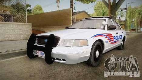 Ford Crown Victoria Police v1 для GTA San Andreas вид сзади слева