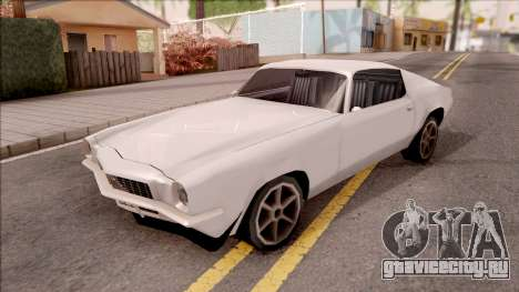 Chevrolet Camaro Z28 1970 SA Style Low Poly для GTA San Andreas