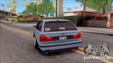 BMW M5 E34 Touring Slammed 1995 для GTA San Andreas вид сзади слева