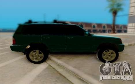 Lexus LX470 FBI для GTA San Andreas вид слева