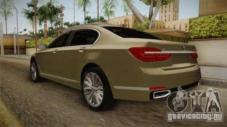 BMW 7-series G12 Long 2016 для GTA San Andreas вид справа