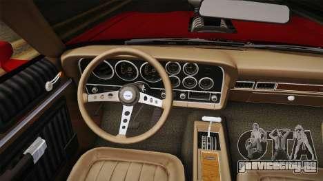 Ford Gran Torino 1972 v1 для GTA San Andreas вид изнутри