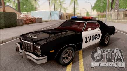 Ford Gran Torino Police LVPD 1975 v2 для GTA San Andreas