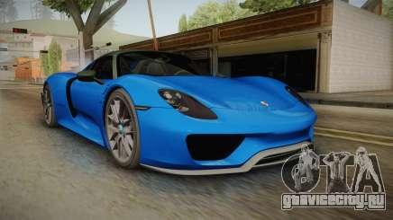 Porsche 918 Spyder Weissach Package 2015 для GTA San Andreas