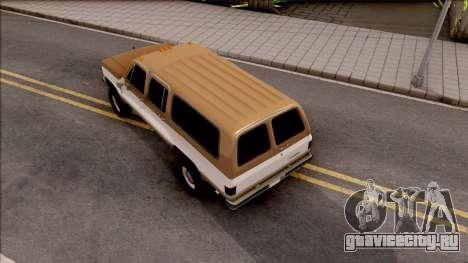 GMC Suburban 2500 1986 для GTA San Andreas вид сзади