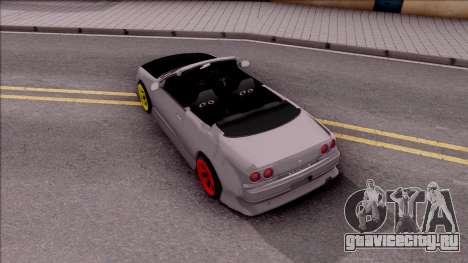 Nissan Skyline R33 Cabrio Drift Monster Energy для GTA San Andreas вид сзади