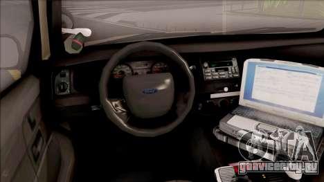 Ford Crown Victoria 2005 Iowa State Patrol для GTA San Andreas вид изнутри