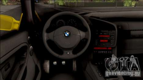 BMW M3 E36 BKworks для GTA San Andreas вид изнутри