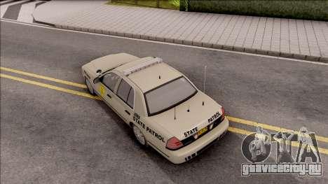 Ford Crown Victoria 2005 Iowa State Patrol для GTA San Andreas вид сзади