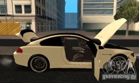 BMW M6 E63 Armenian для GTA San Andreas вид сбоку