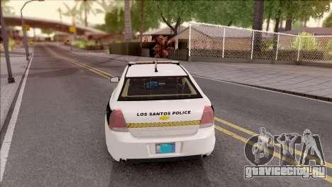 Chevrolet Caprice 2013 Los Santos PD v2 для GTA San Andreas вид сзади слева