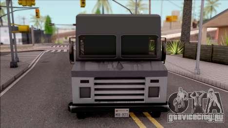 UPS Van для GTA San Andreas вид изнутри
